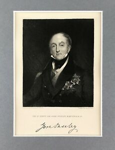 Antique engraved print The Right Hon Sir Gore Ouseley, Bart F.S.A. c1832
