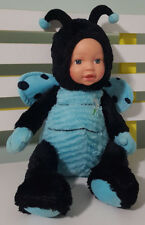 TAMARR BABY DOLL BEETLE COSTUME PLUSH TOY! SOFT TOY ABOUT 31CM SEATED KIDS TOY!