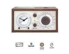 Model Three BT AM/FM Table Radio/Alarm Clock Bluetooth Walnut Beige - Brand New