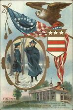 George Washington Eagle American Flag Mt. Vernon c1910 Postcard
