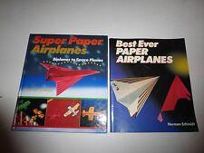 Super Paper Airplanes,Biplanes to Space Planes & Best EverBk Norman Schmidt B154