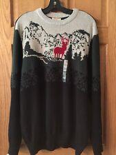 Dockers Mens XXL Season Holiday Sweaters NEW Deer  $64 Black Green Red Cotton