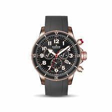 Edox 10227 37RRCA NRB Men's Chronorally S Black Quartz Watch