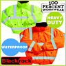 Pro Heavy Duty Waterproof Quilted High Visibility Bomber Jacket Work Safety Coat