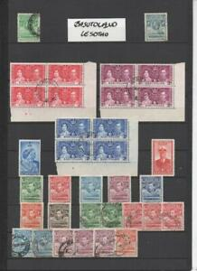 BASUTOLAND/LESOTHO COLLECTION ON 4 PAGES