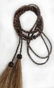 Horsehair, STAMPEDE STRING,hat string, Black-brown, double Loop hat string