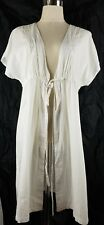 Ada Swimwear White Over Shirt Wrap Beach Cover-Up BNWT Size L (Some Small Marks)