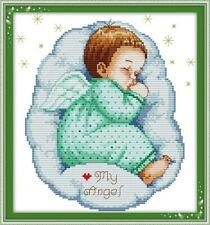 Oso De Peluche Chico Nacimiento Sampler Cross Stitch por florashell