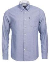 Barbour Theo Soft Cotton Shirt Blue Mens 2XL New