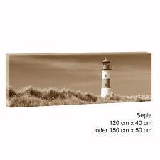 Sylt sepia Bild Leinwand Modern Design Poster Strand Meer XXL 150 cm* 50 cm 542
