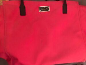 Kate Spade Blake Ave Dark Pink Nylon Bag, Diaper or Laptop sized