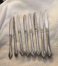 * Set of 8 Oneida BITTERSWEET / REPOSE Dinner Knives Knife Stainless Steel Shiny