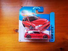 Hot Wheels 1990 Honda Civic EF HW City Red SIR JDM vtec Rare