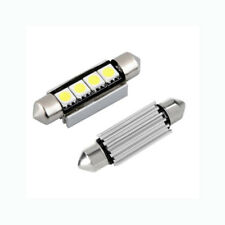 2 x  led 43mm CANBUS NO ERROR 4 SMD 5050 LED Car Interior Festoon Light Bulbs