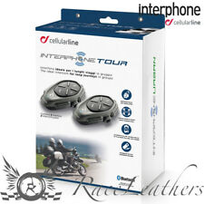 INTERPHONE TOUR TWIN PACK BLUETOOTH MOTORCYCLE INTERCOM HEADSET PHONE GPS ETC