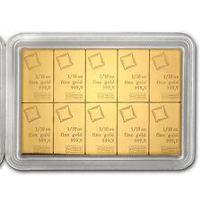 1 oz (10 x 1/10 oz) Valcambi Gold CombiBar in Assay Card