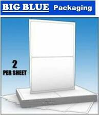 20X A4 Adhesive Copier Sticky Labels 2 per page laser inkjet printer 100 pages