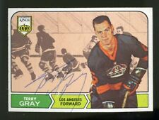 1968-69 Topps #44 TERRY GRAY Autograph/Auto Card Los Angeles Kings