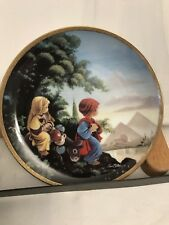 The Flight Into Egypt Collector Plate Precious Moments Bible Story Sam Butcher