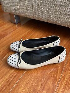 TOD'S Patent & Suede leather ballet ballerina flats shoe size EUR39.5, AU9.5