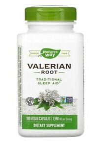 Nature's Way Valerian Root 530mg x 180 Vegan Capsules Sleep Aid USA
