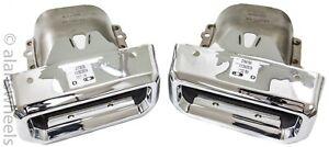 2019-21 Chevy Silverado GMC Sierra 1500 OEM Exhaust Bezels Tips Right & Left Set