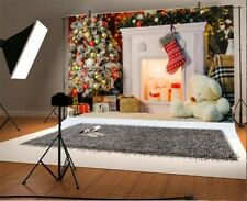 Christmas Fireplace Socks 7x5ft Background Photography Props Show Backdrop