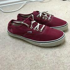 Zapatillas para hombre lona Vans Borgoña Rojo UK 8 Con Cordones Zapatos Casuales De Verano