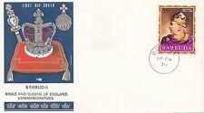 (86054) Barbuda Philart FDC Kings & Queens William I -  16 February 1970