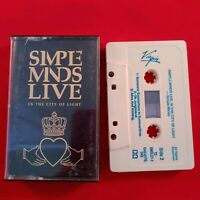 Cassette Tape Simple Minds Live in the city of Light