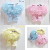 Baby Girl Infant Toddler Lace Skirt TUTU Legging Sweet Gauze Bowknot Short Pants