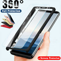 For Samsung Galaxy Note 8 Case 360° Shockproof Slim Full Cover +Screen Protector