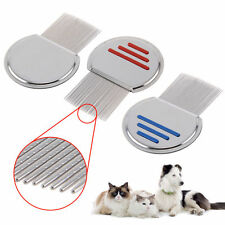 Grooved Teeth Head Lice Comb Remove Egg Fleas Down To Gritty Dog Pet Brush