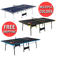 Folding Table Tennis Table W/ Paddle Balls Set Sports Ping Pong Official Size
