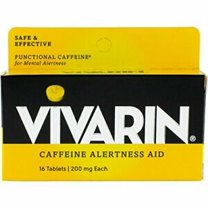 Vivarin Tablets Alertness Aid, 16 Count, [Pack of 6 boxes]