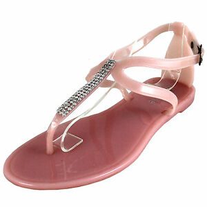 New women shoes fashion jelly sandals t strap open toe casual summer light pink