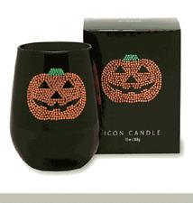 Primal Elements, ICON Candle JACK - 0 - Lantern Pumpkin  - Jeweled EBONY Glass