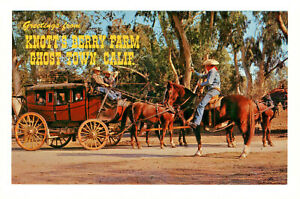 Postcard KNOTT'S BERRY FARM The Exciting Stage Coach Ride. D3