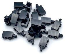 Lego 20 New Black Hinge Bricks 1 x 2 Locking with 1 Finger Horizontal End Pieces