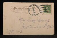 Wyoming: Silver Crown 1911 Comic Postcard, DPO Laramie Co