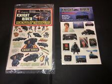 1980's KNIGHT RIDER RUB-N-PLAY TRANSFERS and PUFFY STICKERS Lot.