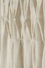 "Anthropologie Shimmering Origami Curtain 50"" x 63"", Neutral Wool Linen One Panel"