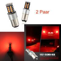 4x 30W Auto LED Lampe BA15S 1157 15SMD 2835 Fehlerfrei Blinker Bremslicht Birne