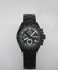 Fossil Chronograph Black Ion-plated Mens Watch CH2601 crown broken