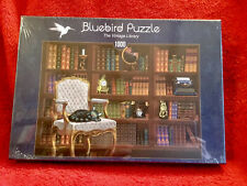 The Vintage Library 1000 piece Jigsaw Puzzle Bluebird Puzzles New Htf Gift