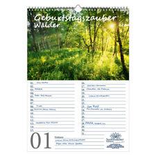 Geburtstagsplaner Geburtstagskalender Waldzauber DIN A3 Kalender Wald - Seelenza