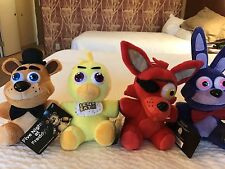 *RARE* Set Of 4 Plush Five Nights At Freddy's FNAF Freddy Foxy Chica Bonnie Toy