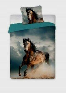 Horse Bedding Duvet Cover Set Pillow Cover Single Size 100% COTTON
