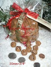 "Primitive Rusty Jingle Bells 144 pcs  20mm 3/4"" Crafts Christmas Tin/Metal .75"""