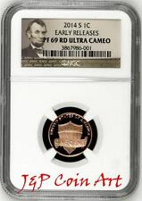 2014 S Lincoln Penny 1c NGC PF69 RD Ultra Cameo Early Releases Portrait Label
